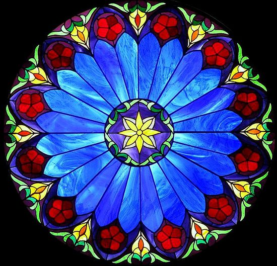 Stained glass..... all the beautiful colors together.