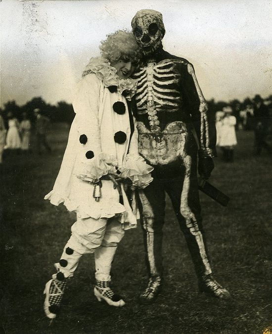 .vintage Halloween b/w photo