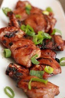 Hawaiian grilled chicken. coconut milk marinade