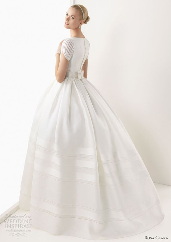 rosa clara wedding dress 2013 brenda short sleeve ball gown