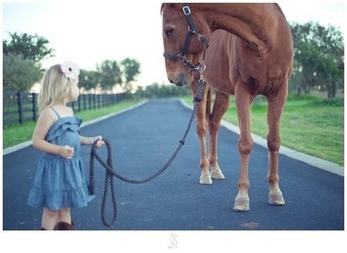 baby girl + horse