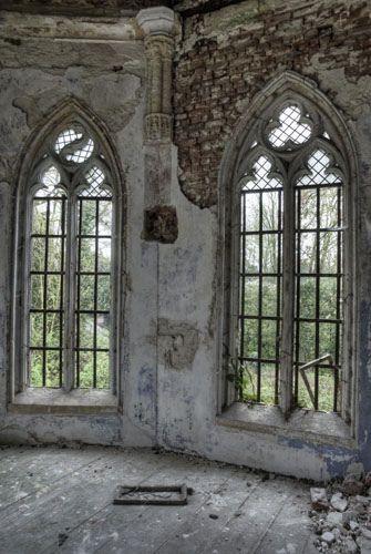Abandoned...Gothic windows