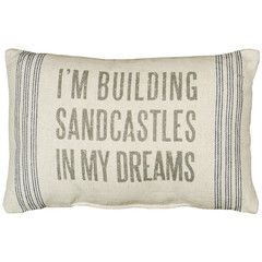 Rustic Sand Castles Accent Throw Pillow