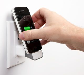 MiniDock wall-mounted iPhone charger from Bluelounge $20