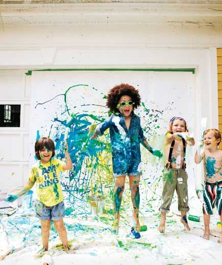 "Birthday Party Ideas: The MESSY Party activities and ""decor"""