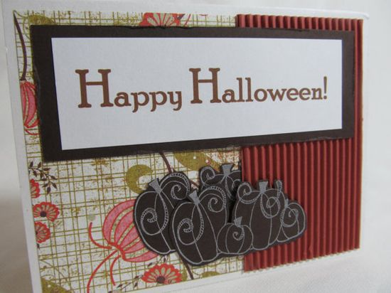 Handmade Halloween Card  Happy Halloween Card by PrettyByrdDesigns, $3.50