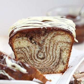 Chocolate & vanilla marble loaf cake Recipe