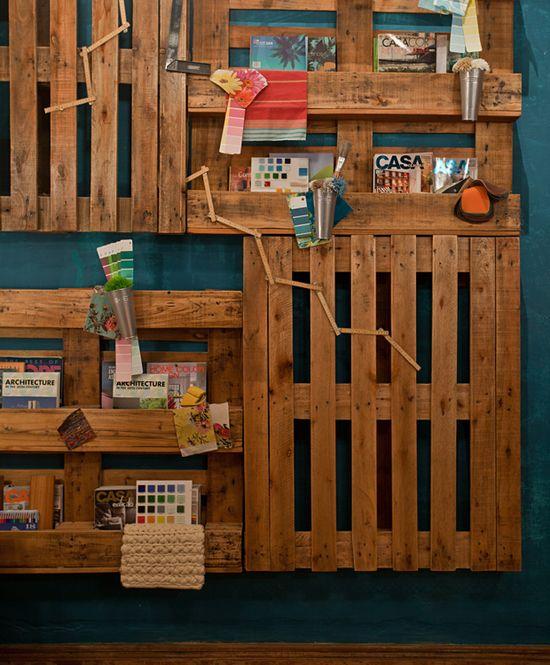 Декорация на стена от палети