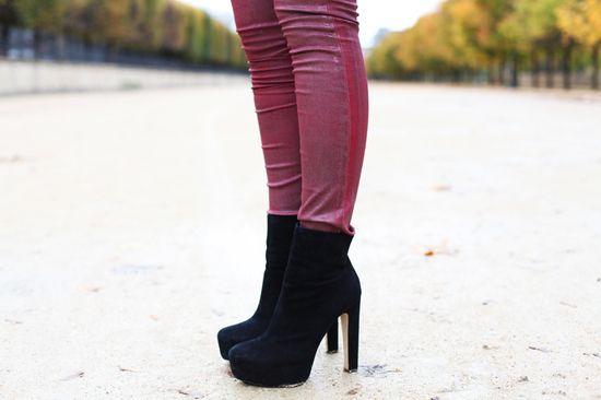 #fashion #shoes stivaletti con tacco