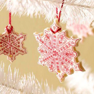 Salt-Dough Snowflake Ornament