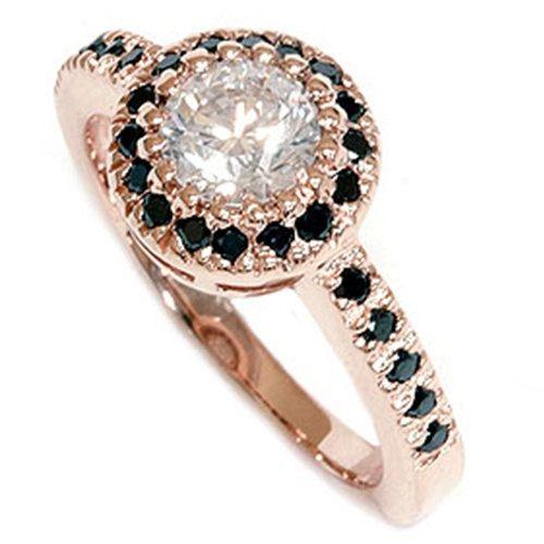 Black & White Diamond 93CT Engagement Ring 14K Rose by Pompeii3, $695.00