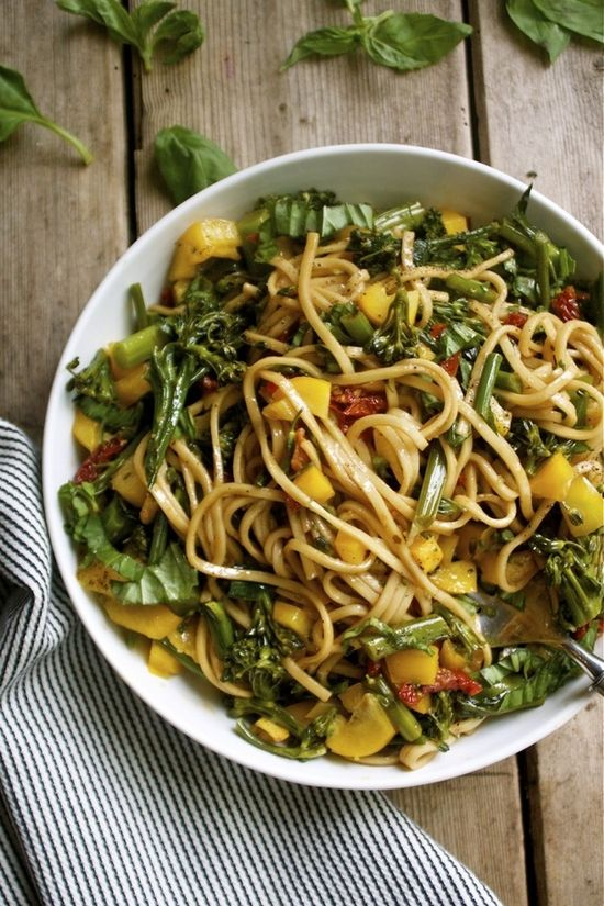 Soba Noodle and Vegetable Salad with Soy Balsamic Vinaigrette.