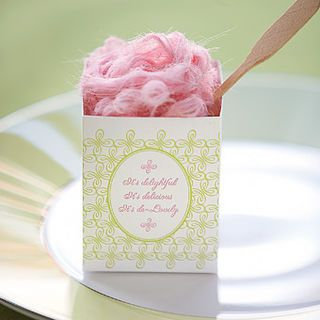 #Cotton #candy in a gorgeous little #container