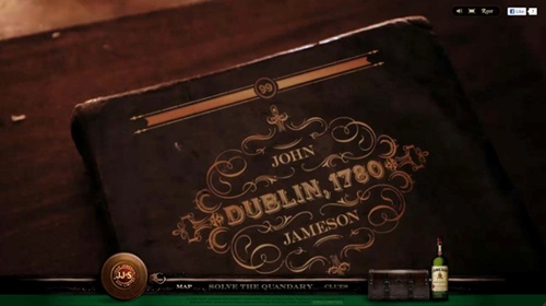 digital extension of the 'Legendary Tales of John Jameson' campaign.  Jameson1780.com lets you participate in your own legendary tale (just like the print/tv campaign) and solve the mystery of the missing barrel of Jameson Irish whiskey. You have to search the streets of Dublin in the 1780s and gather 6 clues to the barrel's whereabouts.