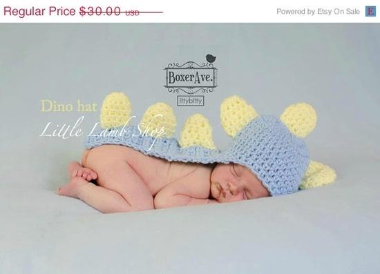 ON+SALE+Last+one+Boy+Dino+Newborn+Hat+Cape++Blue+by+littlelambshop,+$26.70