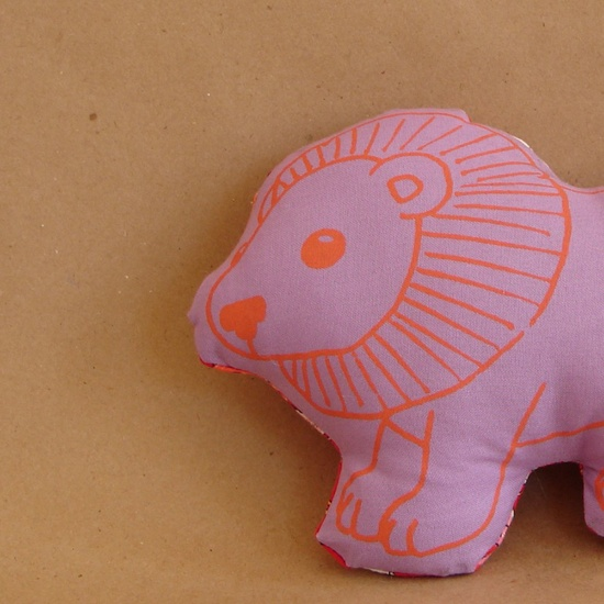Little Lion Handmade Stuffed Animal Toy; could make a pillow!