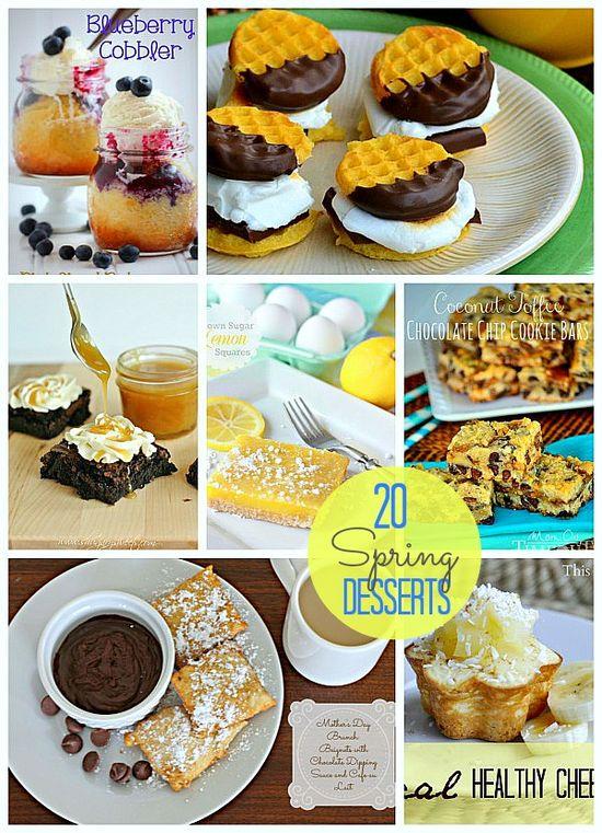 20 Delectable Spring Desserts from tatertotsandjello... #desserts