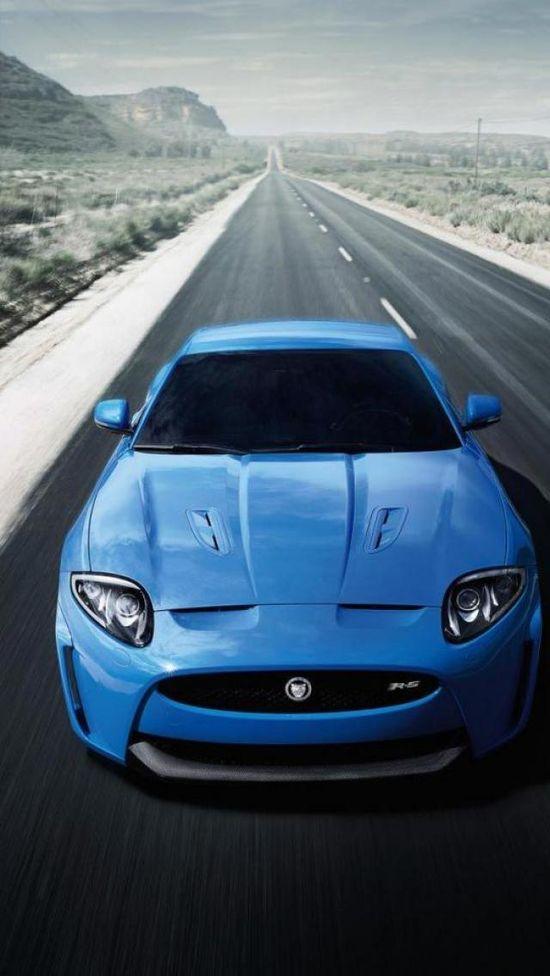 Blue, Jaguar, Car