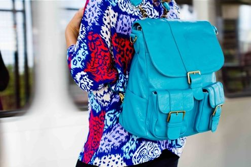 Brooklyn camera backpack in Turquoise from Epiphanie - Gorgeous!