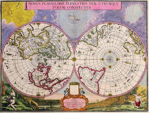 Double Hemisphere Polar Map 1695