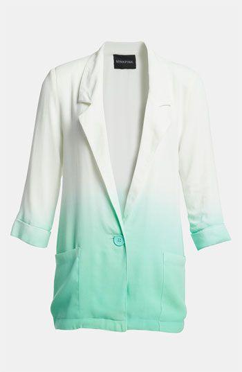minty fresh dip dye blazer