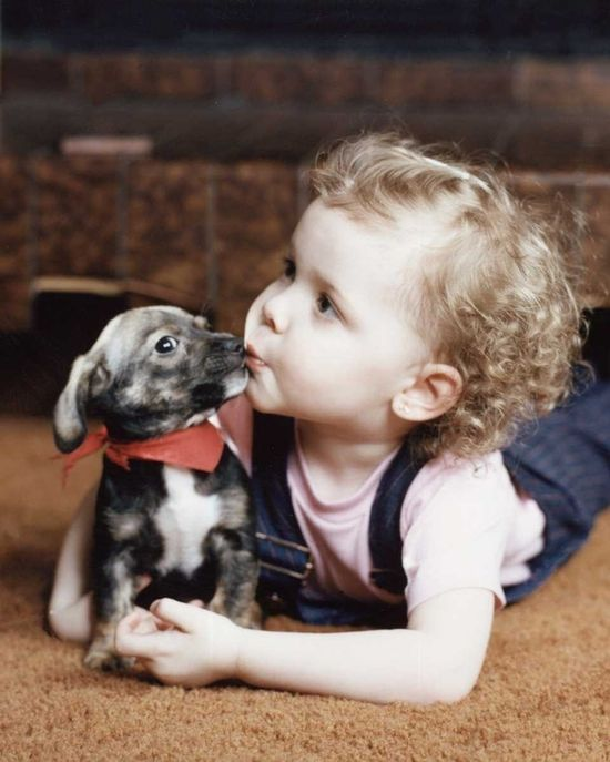 Baby Doxie and baby love... so cute!