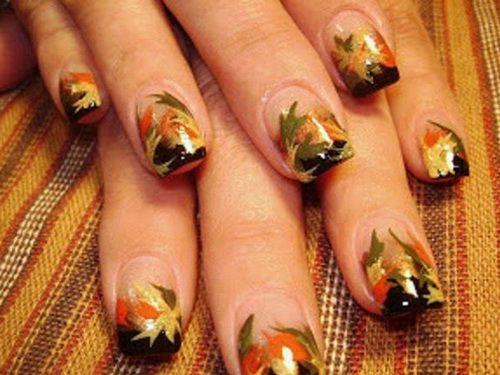Fall Nail Designs: Leaves Nails Design For Fall ~ ideasfornailart.com Nail Designs Inspiration