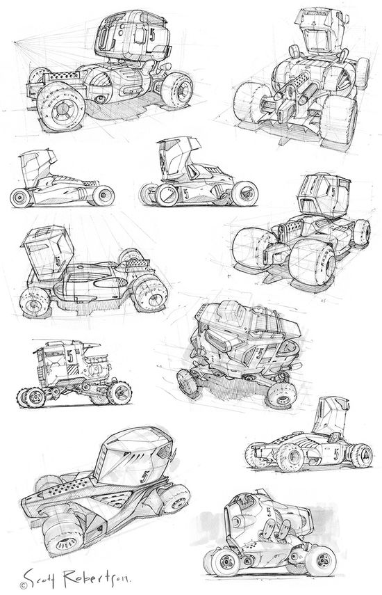 vehicle sketches CT