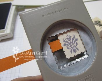 Make a smaller postage stamp punch, to fit to the image. Concept could be used with other punches also.