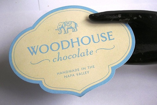 Woodhouse Chocolate business card
