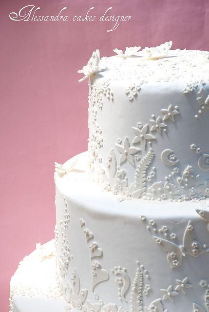 Wedding Cake. by Alessandra Cake Designer, via Flickr