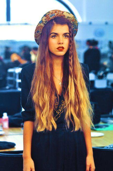 long, ombre hair