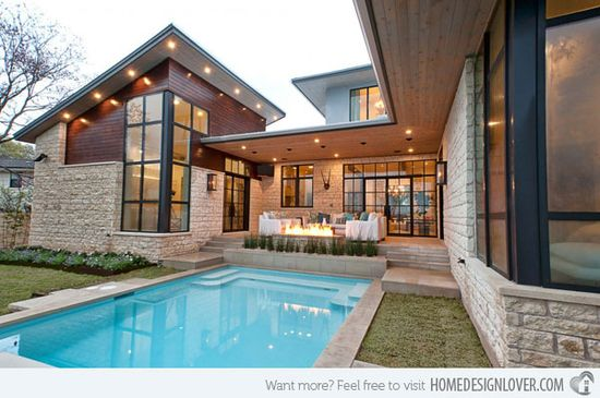 The Fascinating Transitional Concept in Cat Mountain Residence in Texas, USA