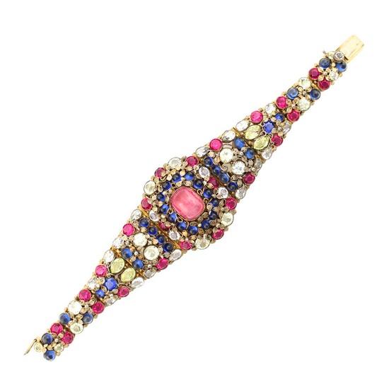 1940-50's Hobe Floral Bracelet