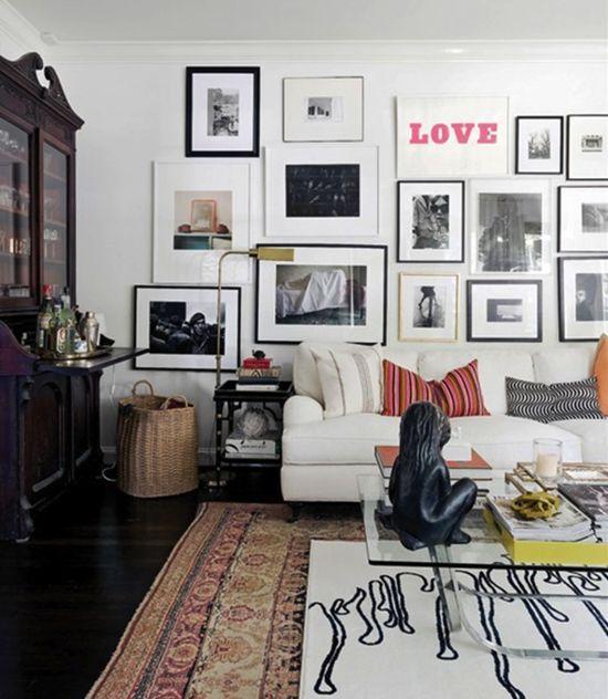 Ashley Putnam's Eclectic Houston Home #artwall #gallerywall