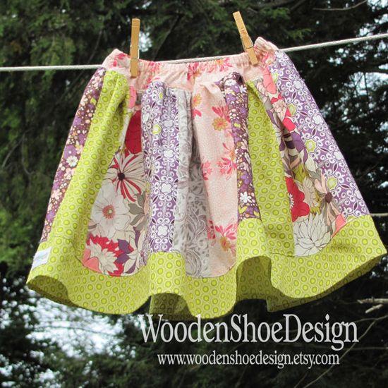 Twirl Skirt sewing tutorial by Little Lizard King