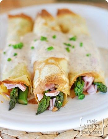 Ham, Asparagus & Swiss Cheese Crepes