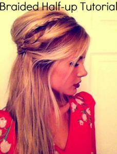 Cute braided half-up hair tutorial!
