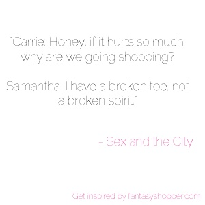 Get inspired by #fashion #quotes and Sex and the City :) x