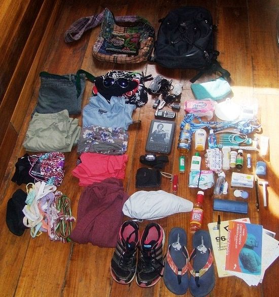 Packing Light with Only Four Clothing Items and One Day Pack – Minimalist Travel