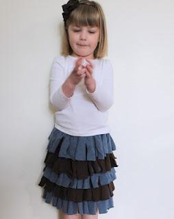 """Upcycled """"Streamer"""" Skirt tutorial"""