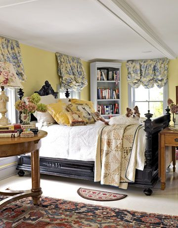 Yellow bedroom.