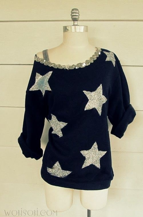 Be a Star Sweatshir? - 22 Brilliant DIY Fashion Projects for Unique Clothes and Accessories