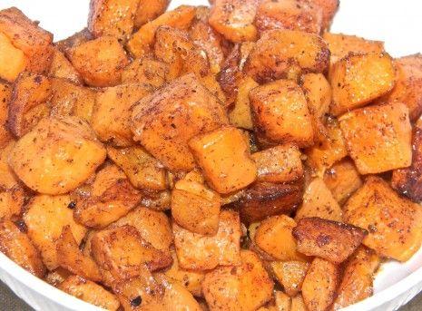 Cinnamon Sugar Roasted Sweet Potatoes *use agave or stevia instead of sugar???