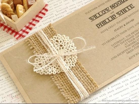 Rustic handmade invite