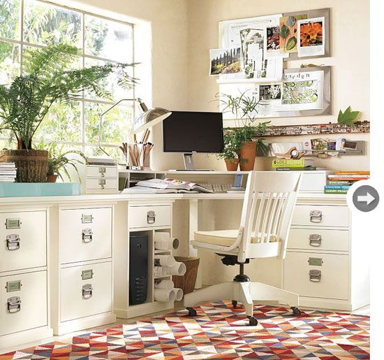drawer filing cabinet Offices have a tendency to get messy, with loose papers and folders piling up quickly. A filing cabinet is a stylish storage solution and this white 3-drawer cabinet blends in seamlessly for a classic, feminine look