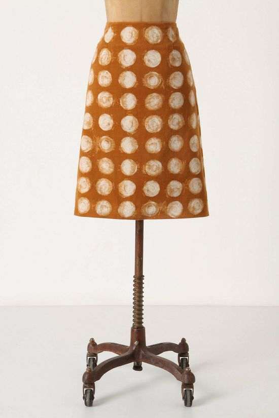 dots pencil skirt