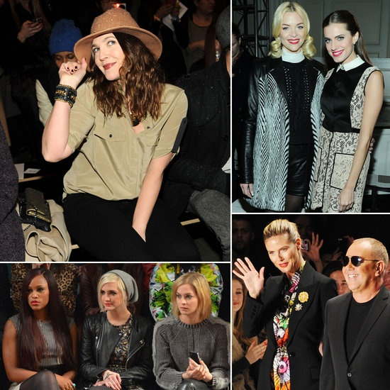Celebrities at New York Fashion Week February 2013