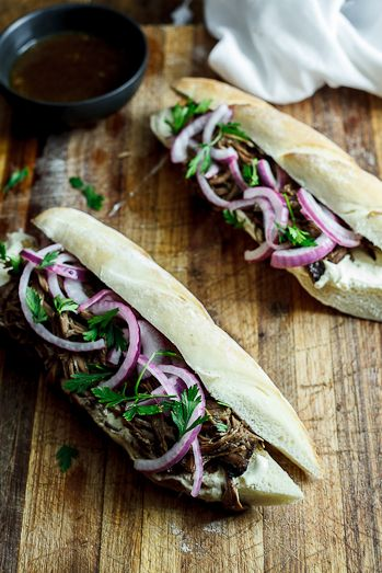 Slow-roasted Balsamic beef sandwiches with horseradish cream - Simply Delicious— Simply Delicious