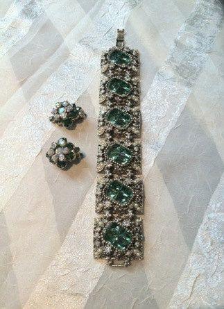 Vintage Juliana Earrings & Rhinestone by NorthCoastCottage on Etsy, $329.00